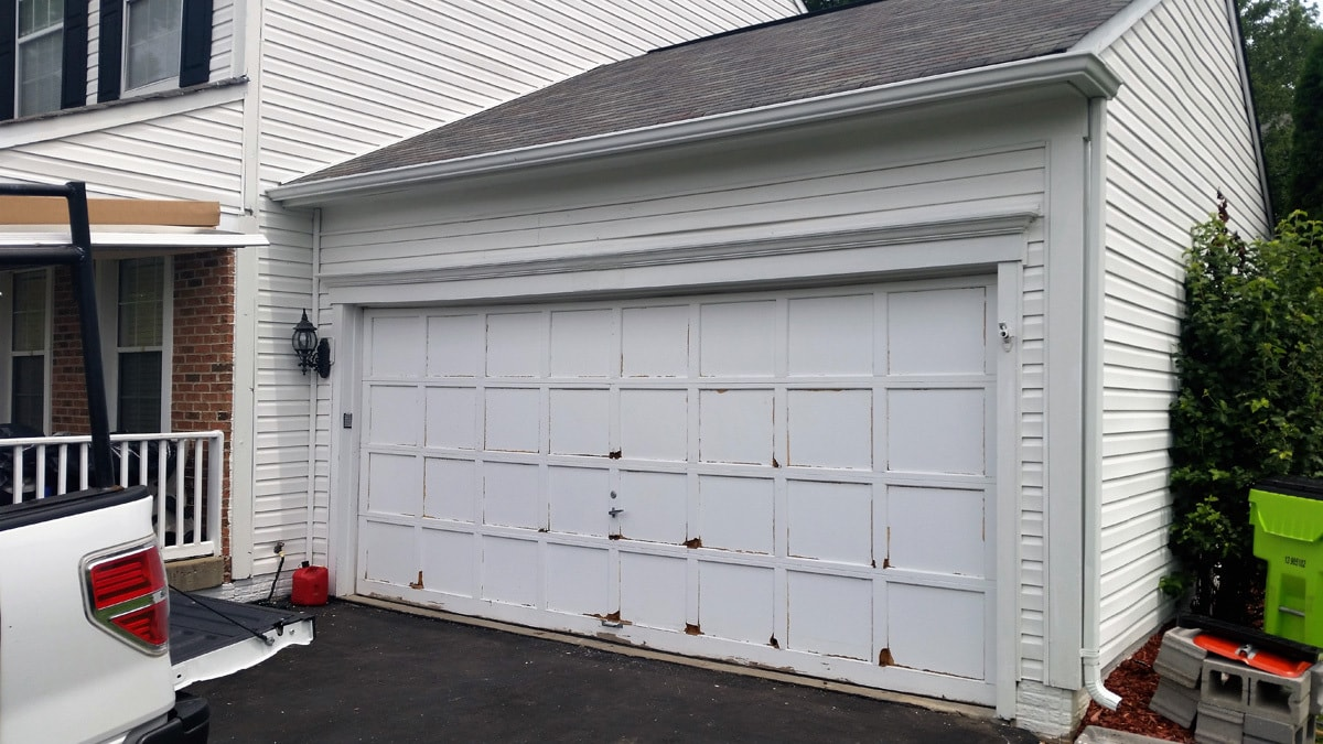 garage door repair 2 before g s garage doors. Black Bedroom Furniture Sets. Home Design Ideas